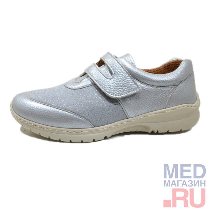 Туфли женские, светло серый, арт. BOSSA, Софтмоуд