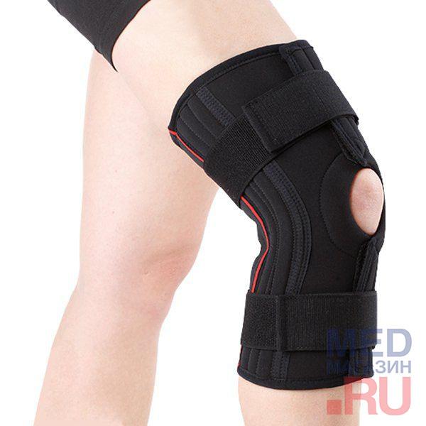 Версия для печати Ортез на коленный сустав разъемный Genu Carezza Арт. 8362 XL (бедро 56-61 см, голень 44-48 см) фото