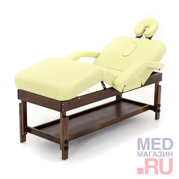 Стол массажный стационарный FIX-0A, кремовый