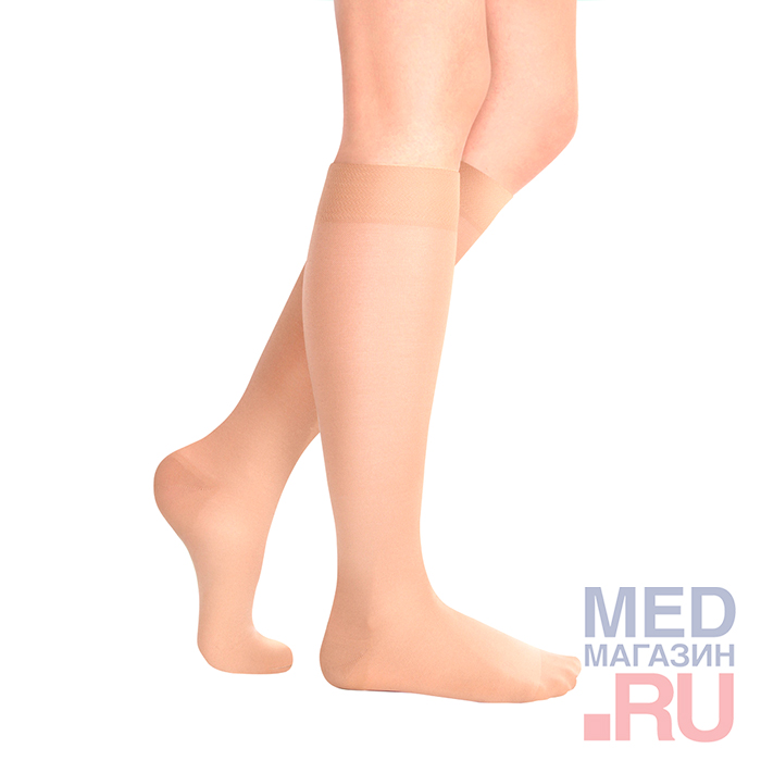 ID-235A Гольфы медицинские компрессионные для путешествий LUOMMA IDEALISTA(Стандарт,закрытый носок)