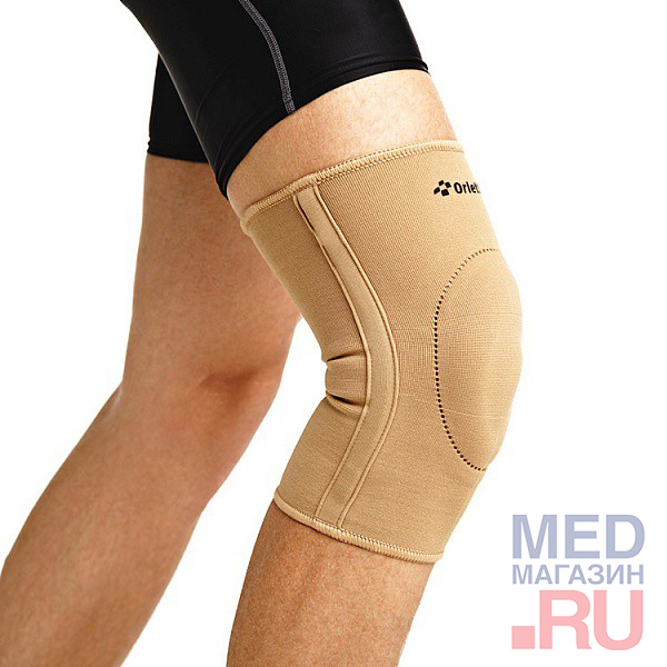 EKN-212 Бандаж на колено с фиксир.подушкой и метал.ребрами