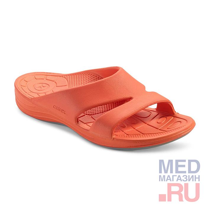 L9007W Aetrex шлепанцы оранжевые