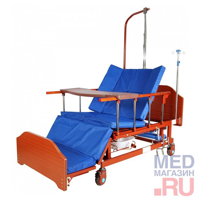 Кровать функциональная медицинская механическая арт. Е-45А (ММ-152Н) ЛДСП
