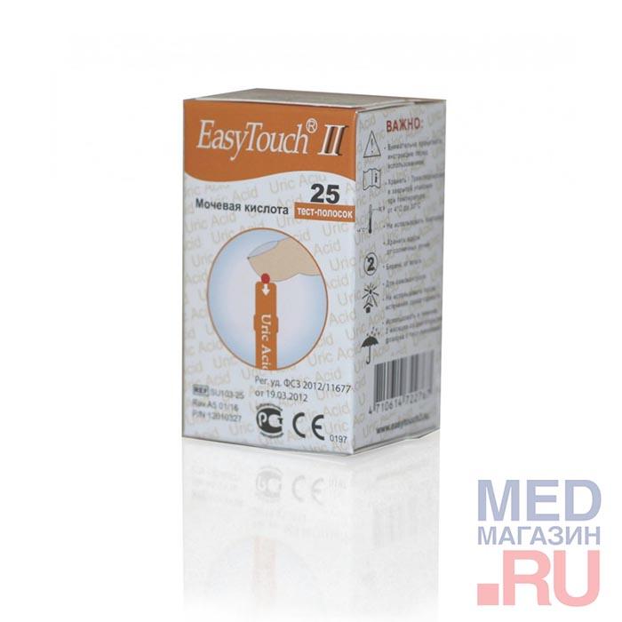 Купить Тест-полоски на мочевую кислоту EasyTouch (ИзиТач), 25 шт., Bioptik Technology, Тайвань