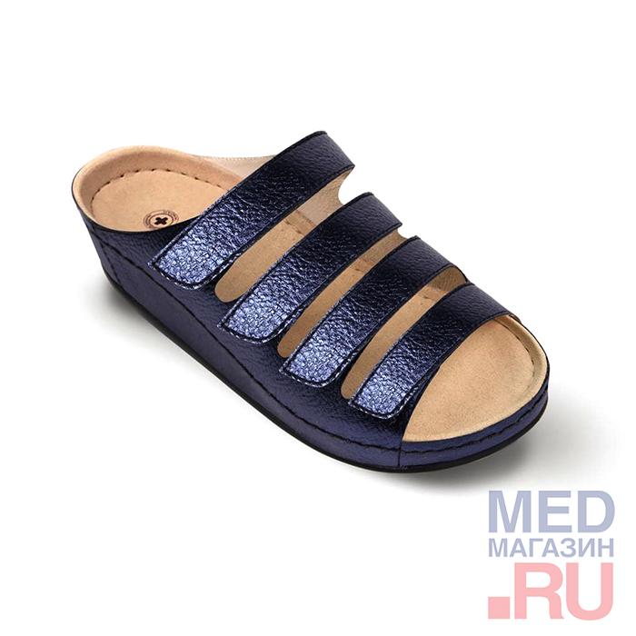 LM-503.016 Обувь ортопедическая малосложная LM ORTOPEDIC, кобальт, жен. фото