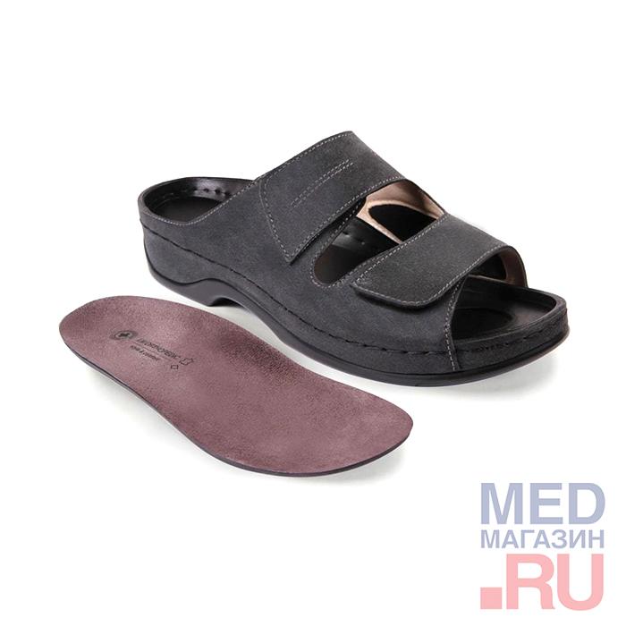 LM-501.003 Обувь ортопедическая малосложная LM ORTOPEDIC, графит, жен. фото