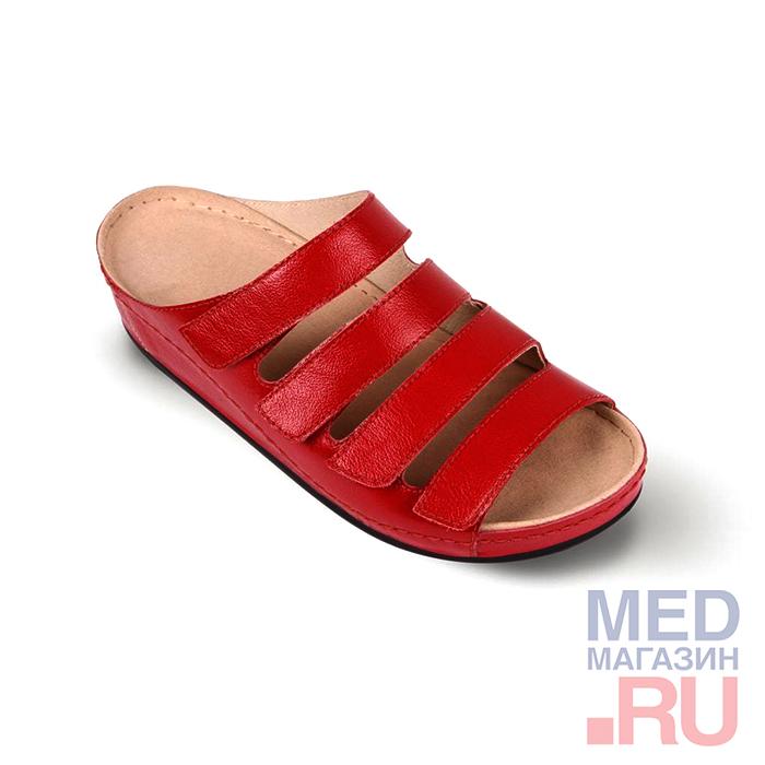 LM-503.017 Обувь ортопедическая малосложная LM ORTOPEDIC, красный, жен. фото