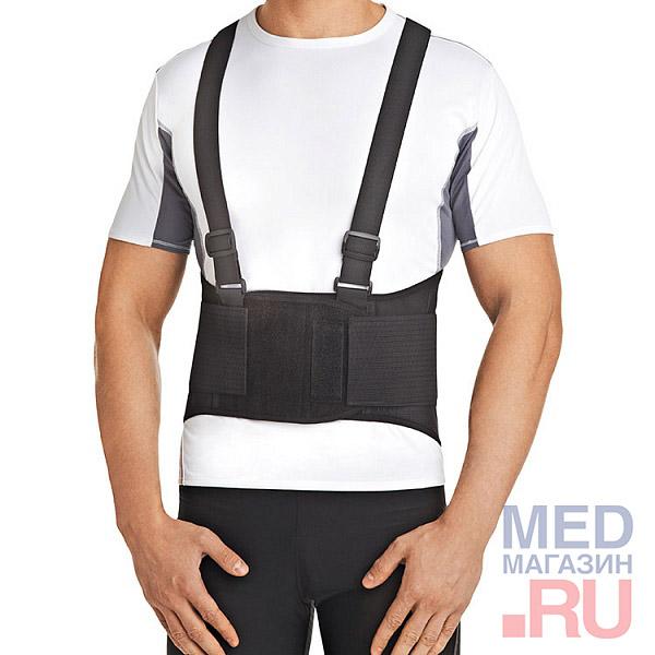 Купить Корсет ортопедический с ребрами жесткости Orlett Арт. IBS-3006: Размер - S черный, Германия