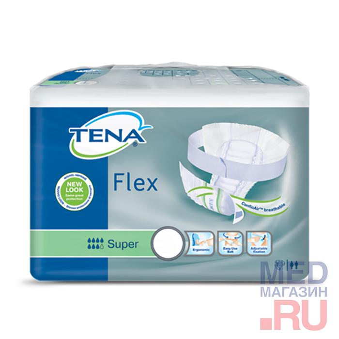 Подгузники Tena Flex Super поясные для взрослых (30шт/уп)