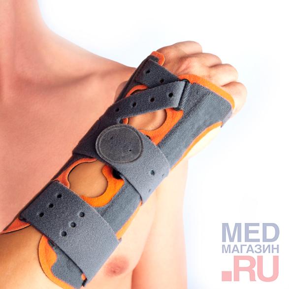M-760 Ортез для иммобилизации кисти, серо-оранжевый