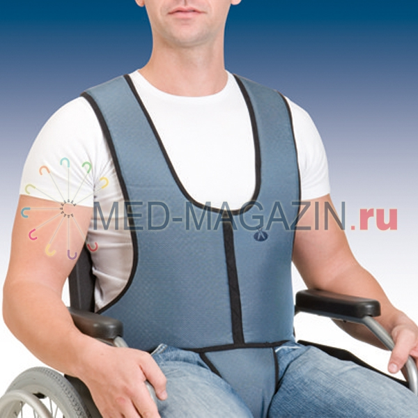 Купить Фиксирующий жилет для кресел-колясок с ремнём фиксации в паховой части 1002, Orliman, Испания