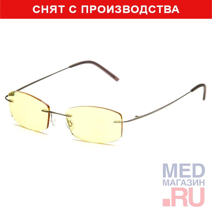 Компьютерные очки (Федорова) релаксационные комбинированные в титановой оправе в футляре с салфеткой (Арт.AF003): Цвет оправы - Синие