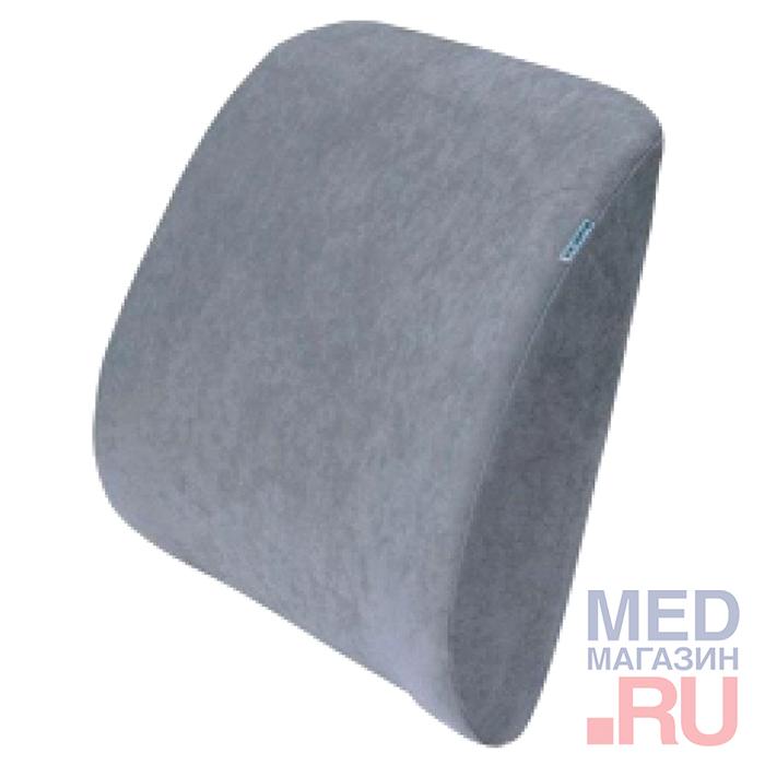 Ортопедическая подушка под спину Артикул П-04: цвет - серый