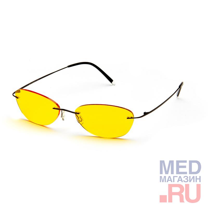 Водительские релаксационные комбинированные очки (Федоровские) в титановой оправе в футляре с салфеткой (арт.AD013): Цвет оправы - Черные, Alis96  - купить со скидкой