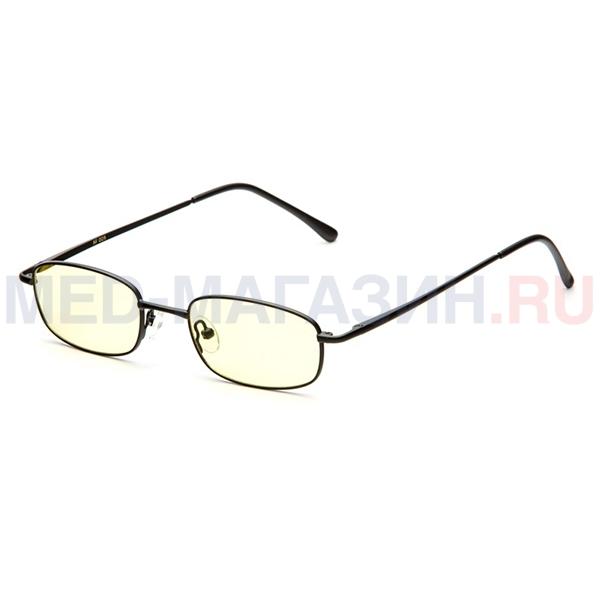 Купить Компьютерные очки (Федорова) релаксационные комбинированные в тканевом чехле с салфеткой (Арт.AF009): Цвет оправы - Золотые, Alis96