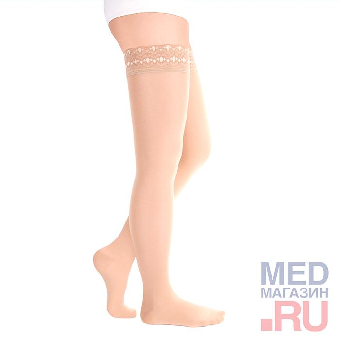 """ID-301T(полупрозрачные)Чулки медицинские компрессионные """"LUOMMA IDEALISTA"""" (1 класс, закрытый носок) фото"""