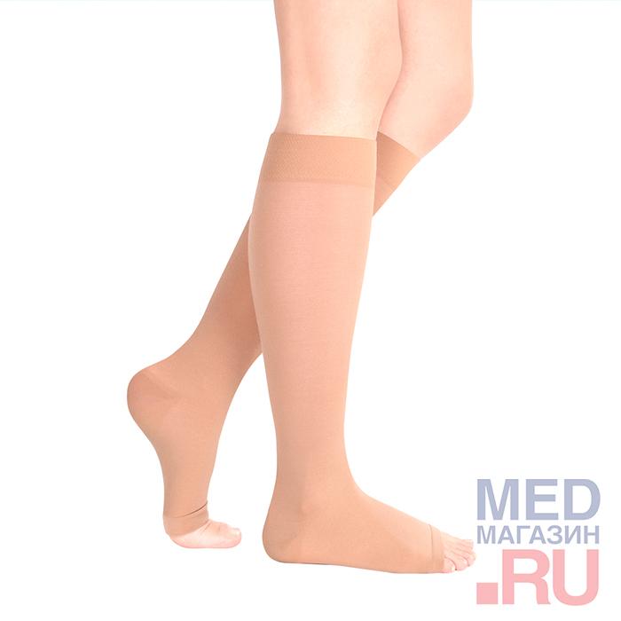 """Гольфы медицинские компрессионные """"LUOMMA IDEALISTA"""" арт. ID-210 (1 класс, открытый носок) фото"""