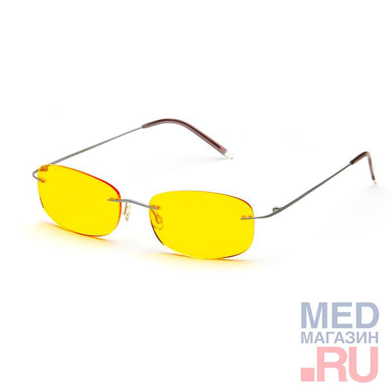 Купить Водительские релаксационные комбинированные очки (Федорова) в титановой оправе в футляре с салфеткой (арт.AD014): Цвет оправы - Черные, Alis96