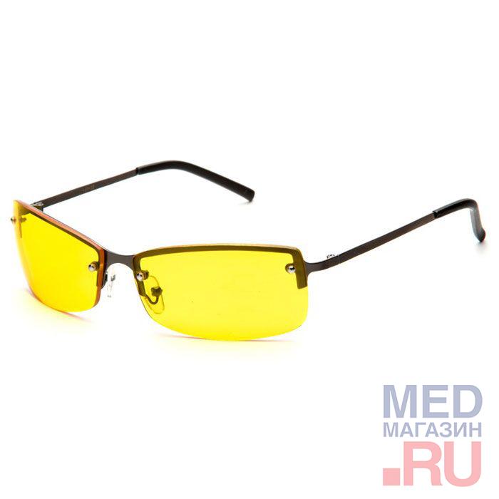 Водительские Федоровские релаксационные комбинированные очки в тканевом чехле с салфеткой (арт.AD017): Цвет оправы - Черные
