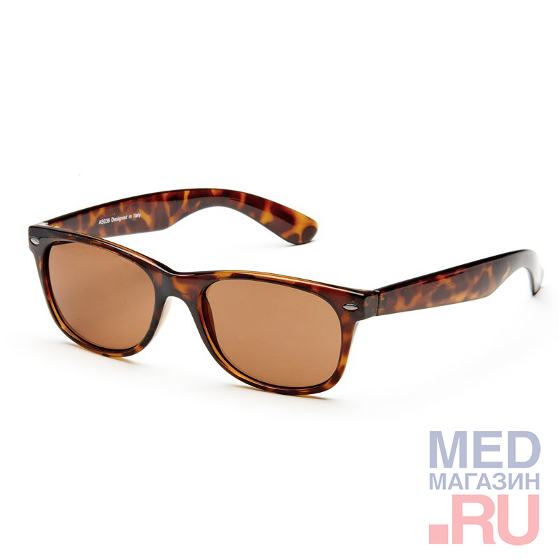 AS039 luxury Очки солнцезащитный (реабилитационные), градиент, цвет - черепаховый