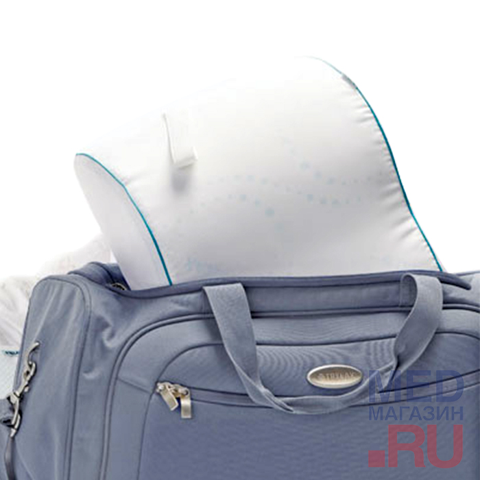 П07 Ортопедическая подушка под голову с эффектом памяти для путешествий