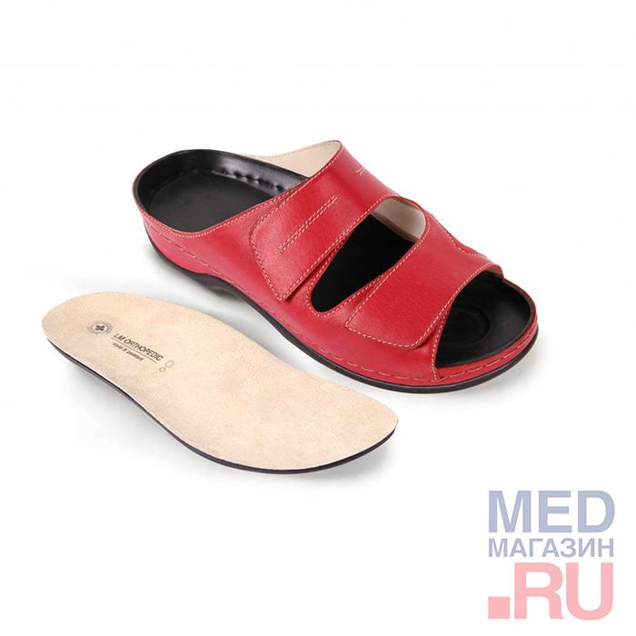 LM-501.017 Обувь ортопедическая малосложная LM ORTOPEDIC, красный, жен. фото