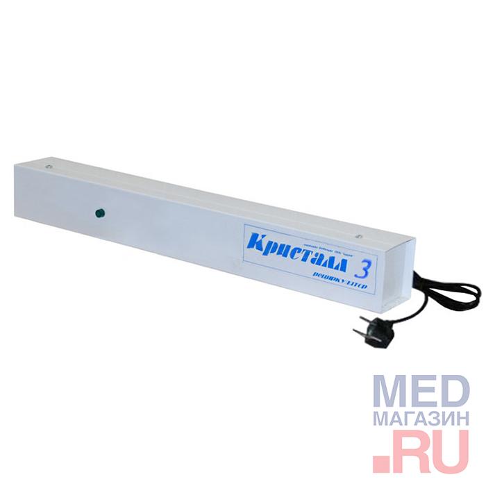 Кварцевая лампа и бактерицидный облучатель Кристалл 3