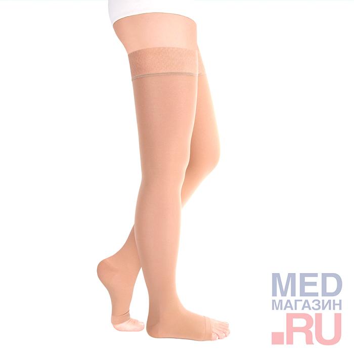 "Чулки медицинские компрессионные ""LUOMMA IDEALISTA"" арт. ID-310 (2 класс, открытый носок) фото"