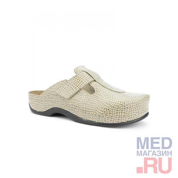 LM-500.002 Обувь ортопедическая малосложная LM ORTOPEDIC, бежевый змейка фото