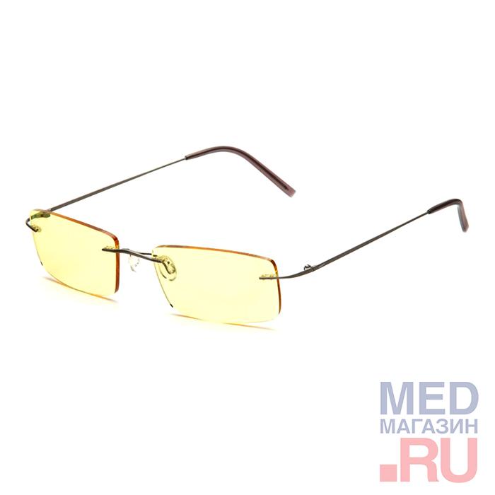 Купить Компьютерные Федоровские очки релаксационные комбинированные в титановой оправе в футляре с салфеткой (Арт.AF001): Цвет оправы - Серебристые, Alis96