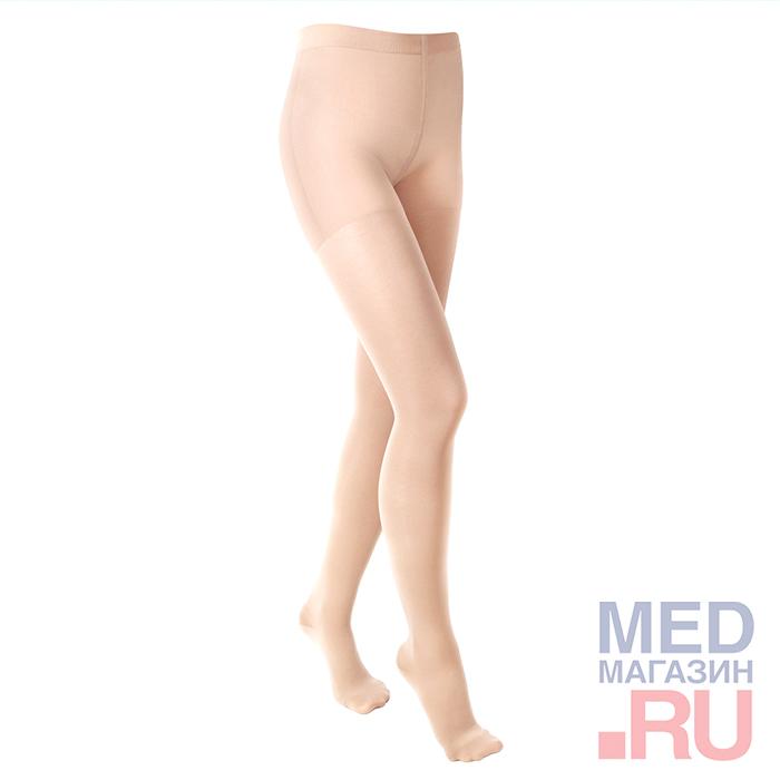 """ID-100T(полупрозрачные)Колготки медицинские компрессионные""""LUOMMA IDEALISTA""""(1 класс,закрытый носок) фото"""